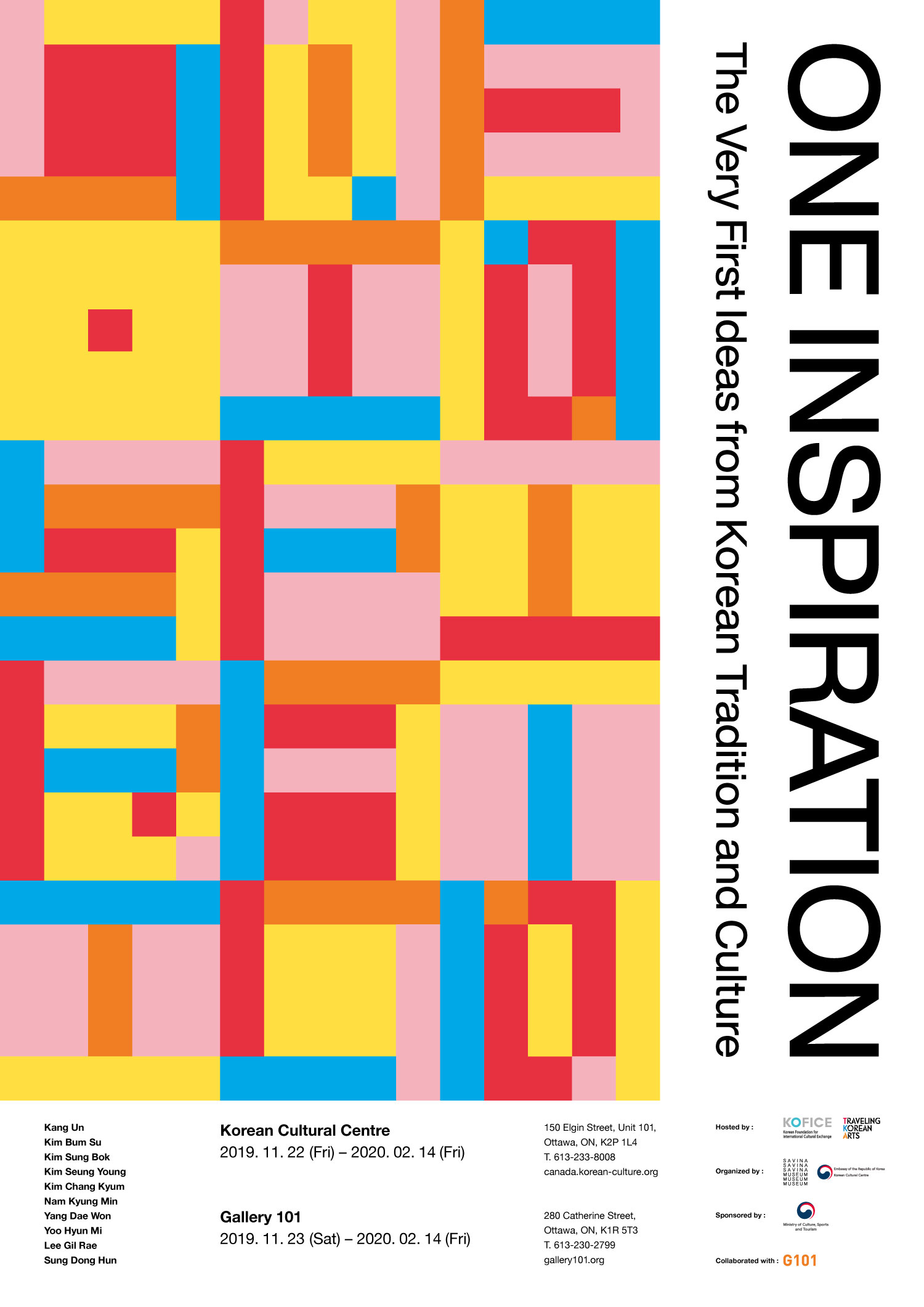 One Inspiration Exhibition Poster courtesy of the Korean Cultural Centre