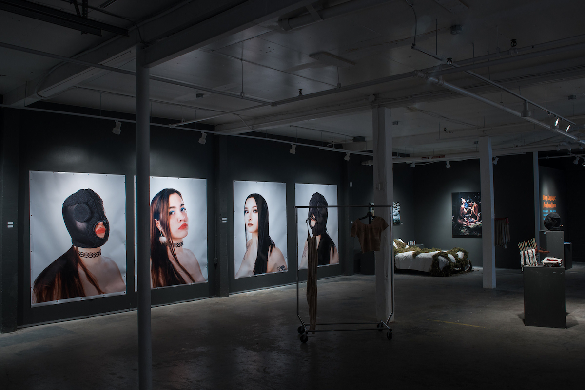 Installation photo of Dayna Danger's large scale photographs shown in Body Language (2017)